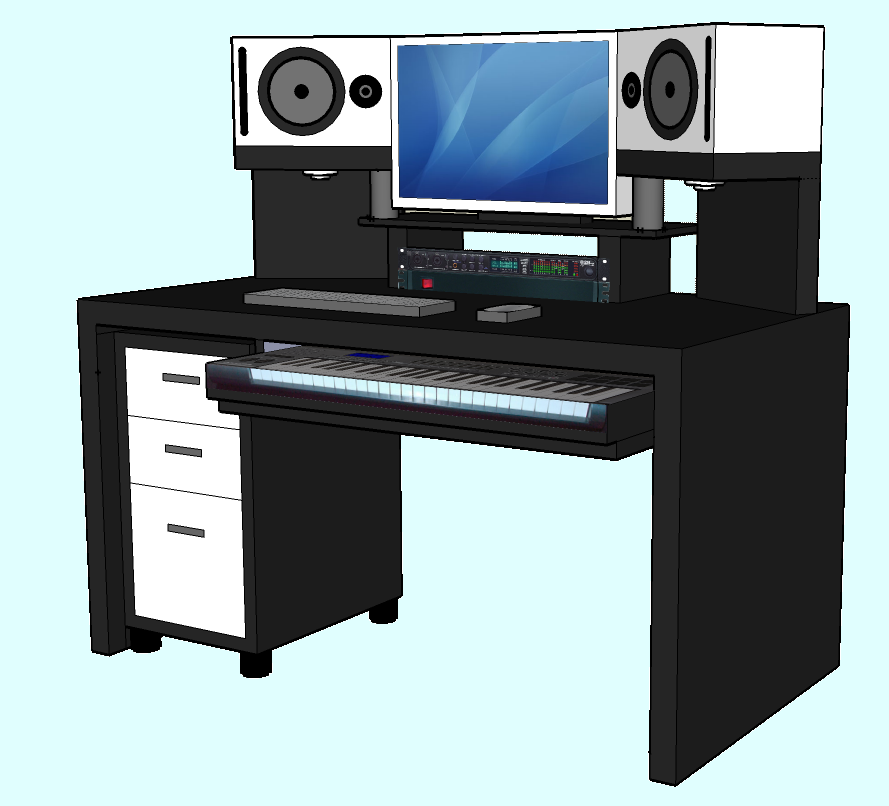 selbstbau studiopult bauen mit ikea dj. Black Bedroom Furniture Sets. Home Design Ideas